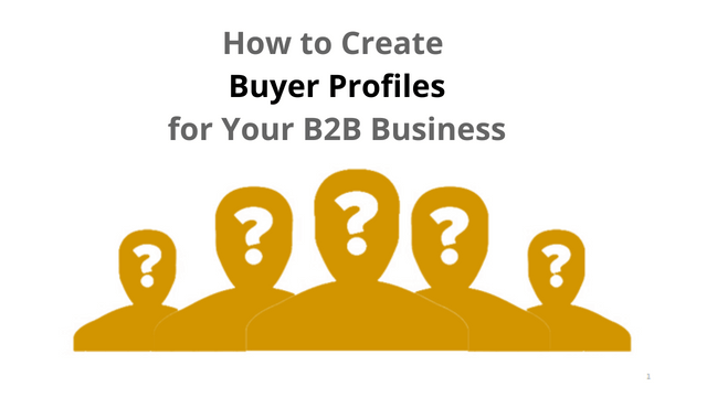 How to Create Buyer Profiles