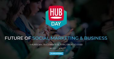 HUBDAY Future of Social Marketing and Business Paris 2018